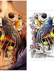 cheap -1 pcs Temporary Tattoos Water Resistant / Best Quality Back Tattoo Stickers