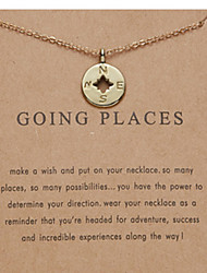 cheap -Women's Necklace Charm Necklace Chrome Gold Silver 52.5 cm Necklace Jewelry 1pc For Daily Holiday School Street Festival