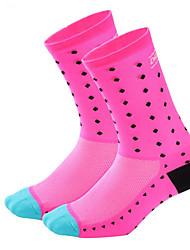 cheap -Men's Women's Running Socks Athletic Sports Socks Cycling Socks Compression Socks Breathable Sweat-wicking Green Blue Pink Road Bike Mountain Bike MTB Running High Elasticity / Road Bike Cycling