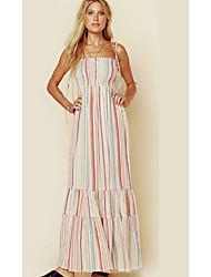 cheap -Women's Basic Shift Sheath Dress - Geometric Light Blue Khaki Light gray M L XL
