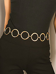 cheap -Women's Body Jewelry 58.5+50.5 cm Waist Chain Gold Aluminum / Alloy Costume Jewelry For Party / Gift / Daily Summer