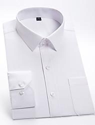 Недорогие -Муж. Однотонный Рубашка Классический Свадьба Для вечеринок Белый / Синий / Розовый