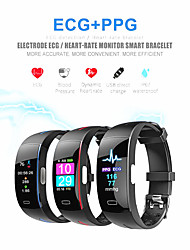 cheap -KUPENG P3 PLUS Smart Bracelet Smartwatch Android iOS Bluetooth Smart Sports Waterproof Heart Rate Monitor Blood Pressure Measurement ECG+PPG Pedometer Call Reminder Activity Tracker Sleep Tracker