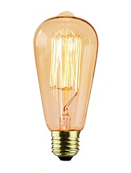 cheap -6pcs 40 W E26 / E27 ST64 Incandescent Vintage Edison Light Bulb 220-240 V / 110-120 V