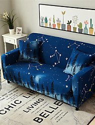 cheap -Starry  Pattern  Dustproof Stretch Slipcovers Stretch Sofa Cover Super Soft Fabric Couch Cover (You will Get 1 Throw Pillow Case as free Gift)