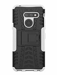 cheap -Case For LG LG V50 / LG G8 Shockproof / with Stand Back Cover Armor Hard Plastic