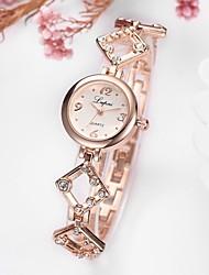 Недорогие -Жен. Часы-браслет Цирконий На каждый день Элегантный стиль Черный Белый сплав Китайский Кварцевый Серебряный Черный / серебряный Розовое Золото Новый дизайн Повседневные часы Имитация Алмазный 1 ед.