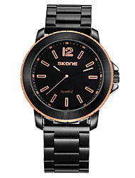 cheap -SKONE Men's Dress Watch Japanese Quartz Casual Water Resistant / Waterproof Casual Watch Cool Analog Rose Gold Black Gold / Two Years / Stainless Steel / Two Years