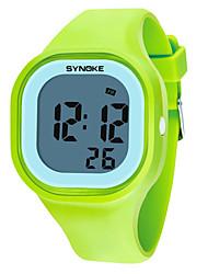 Недорогие -Для пары Спортивные часы Цифровой силиконовый Черный / Белый / Синий Календарь Светящийся Хронометр Цифровой Мода Цветной - Пурпурный Синий Фрукты Зеленый Один год Срок службы батареи