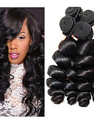 cheap -3 Bundles Malaysian Hair Wavy Loose Wave Unprocessed Human Hair 100% Remy Hair Weave Bundles Headpiece Natural Color Hair Weaves / Hair Bulk Bundle Hair 8-28 inch Natural Human Hair Weaves Women Best