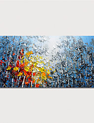 cheap -Hand Painted Canvas Oil Painting Abstract Landscape Home Decoration With Frame Painting Ready To Hang