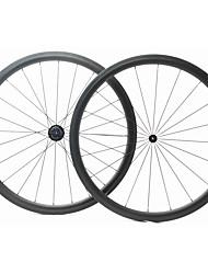 cheap -FARSPORTS 700CC Wheelsets Cycling 23 mm Road Bike Carbon Fiber Tubular 20/24 Spokes 38 mm