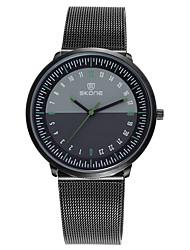 Недорогие -SKONE Муж. Спортивные часы Японский Японский кварц Нержавеющая сталь Черный / Серебристый металл 30 m Защита от влаги Повседневные часы Аналоговый На открытом воздухе Мода -  / Два года