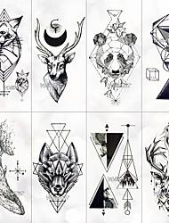 cheap -8 pcs Temporary Tattoos Water Resistant / Best Quality Face / Hand / brachium Tattoo Stickers