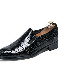 cheap -Men's Leather Shoes Leather / Patent Leather Spring & Summer Casual Loafers & Slip-Ons Breathable Black / Driving Shoes