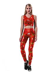 cheap -Catsuit Swimsuit Swimwear Cosplay Costumes Beach Girl Adults' Cosplay Costumes Cosplay Halloween Women's Red Angel & Devil Printing Christmas Halloween Carnival / Vest / Pants / Vest / Pants