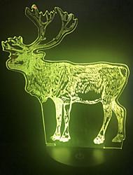 cheap -1pc LED Elk Night Light for Christmas Party Change USB Creative <=36 V