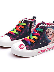 cheap -Girls' Comfort Canvas Sneakers Toddler(9m-4ys) / Little Kids(4-7ys) / Big Kids(7years +) Dark Blue / Light Blue Spring