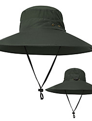 cheap -TCAHCC Sun Hat Fishing Hat Hiking Hat Wide Brim 1 PCS Sunscreen UV Resistant Breathable Ultraviolet Resistant Solid Color Nylon Autumn / Fall Spring Summer for Men's Women's Fishing Outdoor Grey Dark