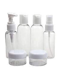 cheap -6pcs Portable Transparent Travel Cosmetic Bottle Points Bottling for Hand Sanitizer Alcohol