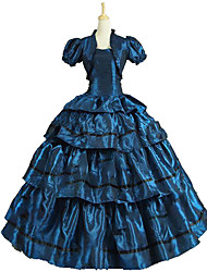 cheap -Princess Rococo Victorian Dress Party Costume Costume Women's Cotton Costume Dark Green Vintage Cosplay Masquerade Party & Evening Sleeveless Floor Length Long Length Plus Size
