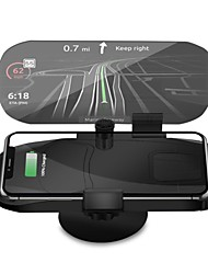 cheap -Car second generation HUD display mobile phone holder 10WHUD wireless charger car head-up projection navigation frame