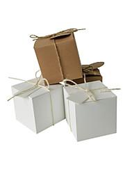 Недорогие -Кубик Крафт-бумага Фавор держатель с Ленты / Ленты Товары для дома / Коробочки / Подарочные коробки - 50 ед.