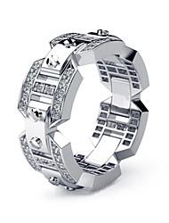 cheap -Men's Women's Ring 1pc Silver Imitation Diamond Alloy European Daily Jewelry Hollow Out Knife Edge