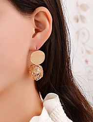 cheap -Women's White Pearl Stud Earrings Vintage Style Simple Luxury Vintage Romantic Gold Plated Earrings Jewelry Gold / White For Party Gift Date 1 Pair