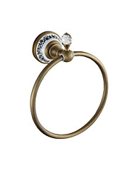 cheap -Towel Bar Multifunction Antique Brass / Ceramic 1pc - Bathroom towel ring Wall Mounted