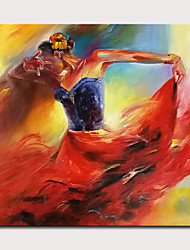 cheap -Mintura  Big Size Hand Painted Girl Figure Oil Painting On Canvas Modern Abstract Wall Art Picture For Home Decoration No Framed Rolled Without Frame