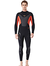 cheap -Men's Full Wetsuit 3mm SCR Neoprene Diving Suit Quick Dry High Elasticity Long Sleeve Back Zip Patchwork Autumn / Fall Spring Summer / Stretchy