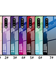 cheap -Case For Huawei Huawei P20 / Huawei P20 Pro / Huawei P20 lite Ultra-thin Back Cover Color Gradient Hard Tempered Glass