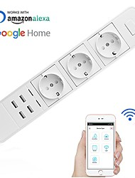 cheap -Smart Socket / Smart Plug Timing Function / with USB Ports / Quick Charge 2.0 1pc ABS+PC / 750°C APP / Radar Control / Andriod 4.2 Above Amazon Alexa Echo / Google Assistant / Nest
