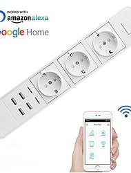 Недорогие -Розетка / Smart Plug Функция синхронизации / с USB-портами / Быстрая зарядка 2.0 1шт ABS + PC / 750 ° С ПРИЛОЖЕНИЕ / Радарное управление / Andriod 4.2 Выше Amazon Alexa Echo / Google Assistant