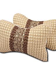 cheap -Car ice silk head pillow Car neck and neck pillows 1pair