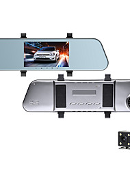 cheap -1080p HD Rearview Mirror Streaming Media Car DVR 170 Degree Wide Angle 5 inch IPS Dash Cam with Night Vision / G-Sensor / Parking Monitoring Car Recorder