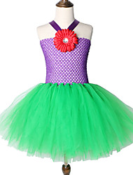 cheap -Mermaid Princess Girl Tutu Dress Flower Cartoon Halloween Costume Cosplay Party Skirt