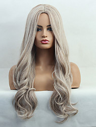 cheap -Costume Accessories Synthetic Wig Body Wave Natural Wave Middle Part Wig Blonde Long Light golden Synthetic Hair 24 inch Women's Fashionable Design Synthetic Natural Hairline Blonde BLONDE UNICORN