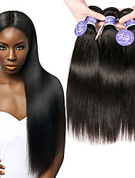 cheap -3 Bundles Hair Weaves Brazilian Hair Straight Human Hair Extensions Remy Human Hair 100% Remy Hair Weave Bundles 300 g Natural Color Hair Weaves / Hair Bulk Human Hair Extensions 8-28 inch Natural