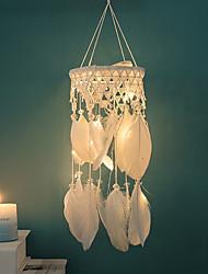 cheap -Handmade Dream Catchers Heart Lace With Light Dream Catcher Pendant Wall Art Decoration