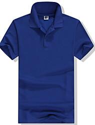 Недорогие -Муж. Однотонный Футболка Рубашечный воротник Белый / Черный / Синий / Красный / Розовый / Пурпурный / Оранжевый / Зеленый