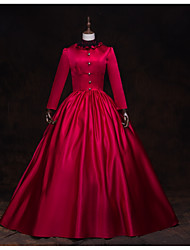 cheap -Fairytale Renaissance Dress Outfits Party Costume Masquerade Women's Costume Red / black Vintage Cosplay 3/4 Length Sleeve