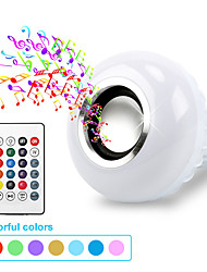 cheap -Smart E27 RGB Bluetooth Speaker LED Bulb Light 7W Music Playing Dimmable Wireless Led Lamp with 24 Keys Remote Control