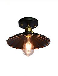 cheap -1-Light 25 cm Matte Flush Mount Lights Metal Country 110-120V / 220-240V / E26 / E27