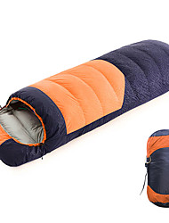 cheap -Shamocamel® Sleeping Bag Outdoor Envelope / Rectangular Bag -10~5 °C Single Duck Down Waterproof Portable Breathable Warm Durable Skin Friendly 210*80 cm Autumn / Fall Spring for Camping / Hiking