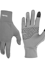 cheap -BOODUN Winter Bike Gloves / Cycling Gloves Mountain Bike MTB Thermal / Warm Touch Screen Windproof Breathable Full Finger Gloves Touch Screen Gloves Sports Gloves Lycra Silicone Gel Black Grey Fuchsia