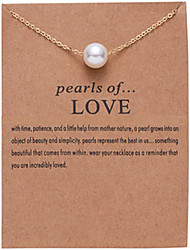 cheap -Women's Necklace Charm Necklace Imitation Pearl Chrome Gold 47 cm Necklace Jewelry 1pc For Daily School Street Holiday Festival