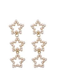 cheap -Women's Drop Earrings Earrings Dangle Earrings Long Star Dangling Bohemian Korean Sweet Imitation Pearl Earrings Jewelry Gold For Gift Street Holiday Work Festival 1 Pair