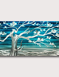 cheap -Hand painted Stretched Oil Painting Canvas Ready To Hang Abstract Style Trees & Flowers